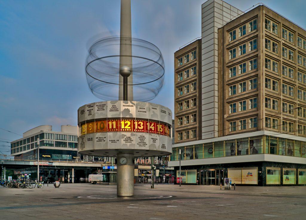 Weltzeituhr Alexanderplatz Interrail Schweden Deutschland