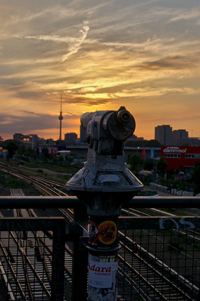 Berlin Friedrichshain Blick zum Fernsehturm