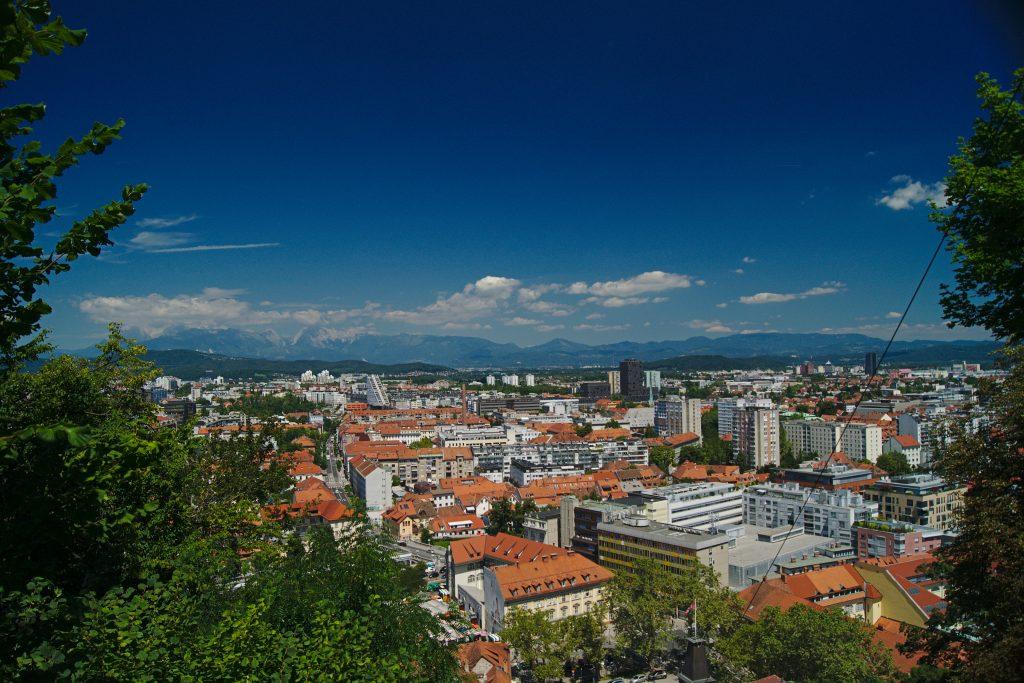 Ausblick von der Burg in Ljubljana