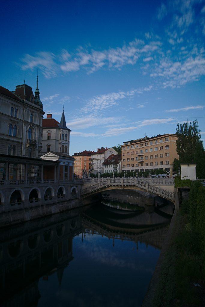 Brücke in der Altstadt Ljubljana