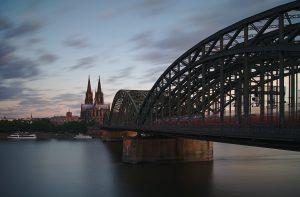 Hohenzollner Brücke Köln Interail von Deutschland nach Schweden