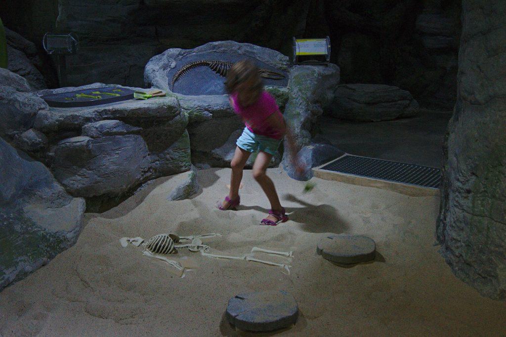 Odysseum Kind Skelett Gruselkabinett der Bilder