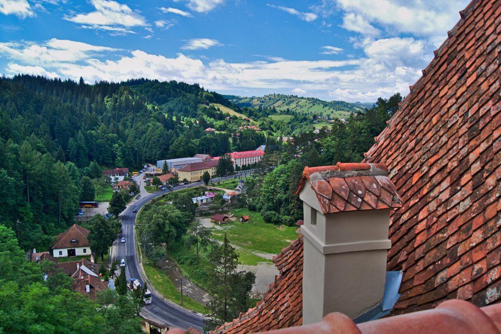 Aussicht von Schloss Bran dem Draculaschloss