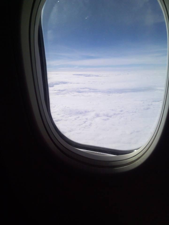 Ohne Auto nach Norwegen Flugzeug fenster