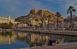 Bildbearbeitung Alicante Hafen burg