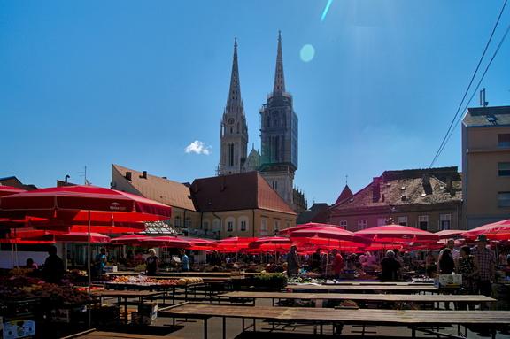 Markt 24 Stunden in Zagreb