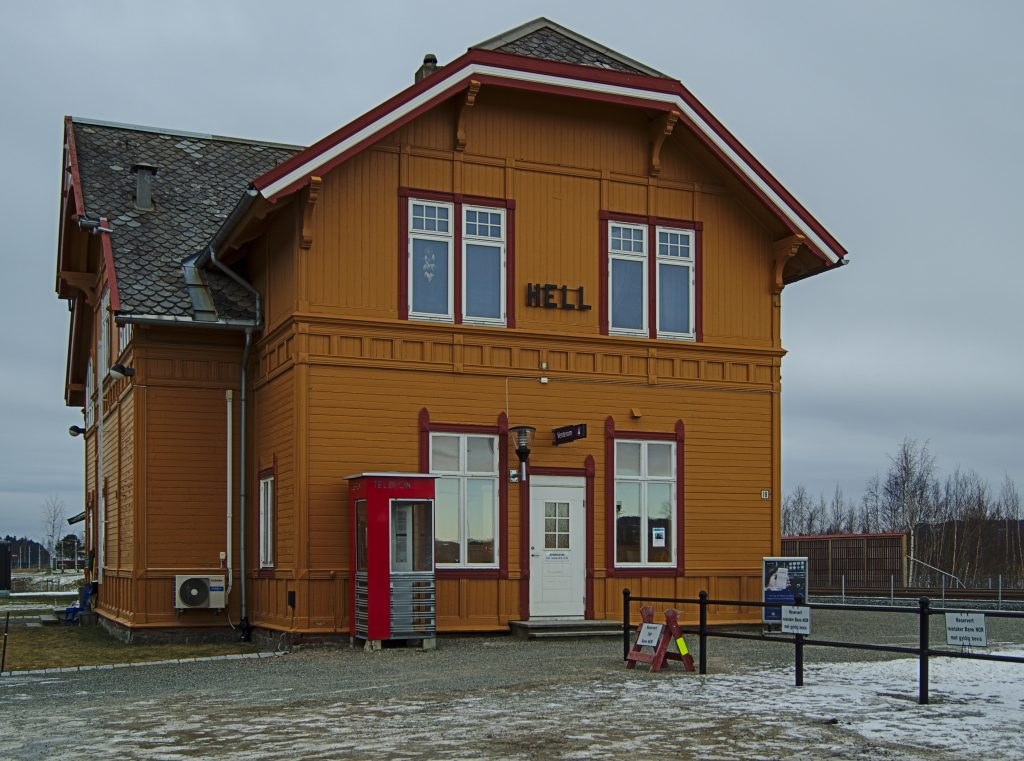 bahnhof in Hell in Norwegen