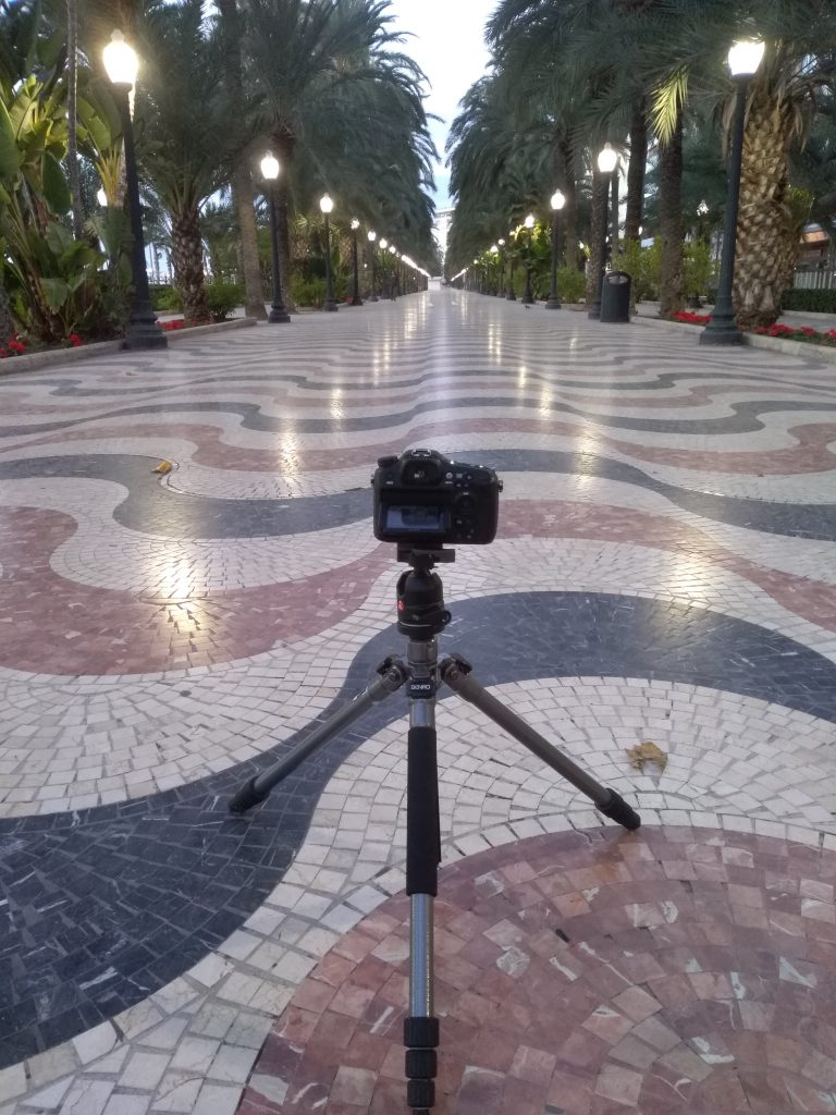 das richtige Stativ finden, Alicante Kamerae Promenade