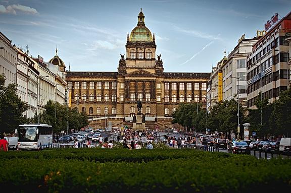 Wenzelsplatz Prag mit Kindern
