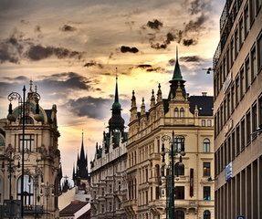 Prag mit Kindern, innenstadt mit herzwolke Reiseziele 2019