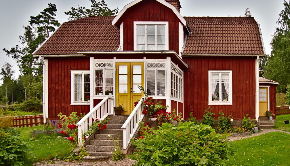 Komplementärfarben beim Haus von Michel aus Lönneberga