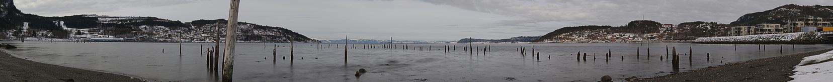 Panoramafotografie vom Trondheimfjord