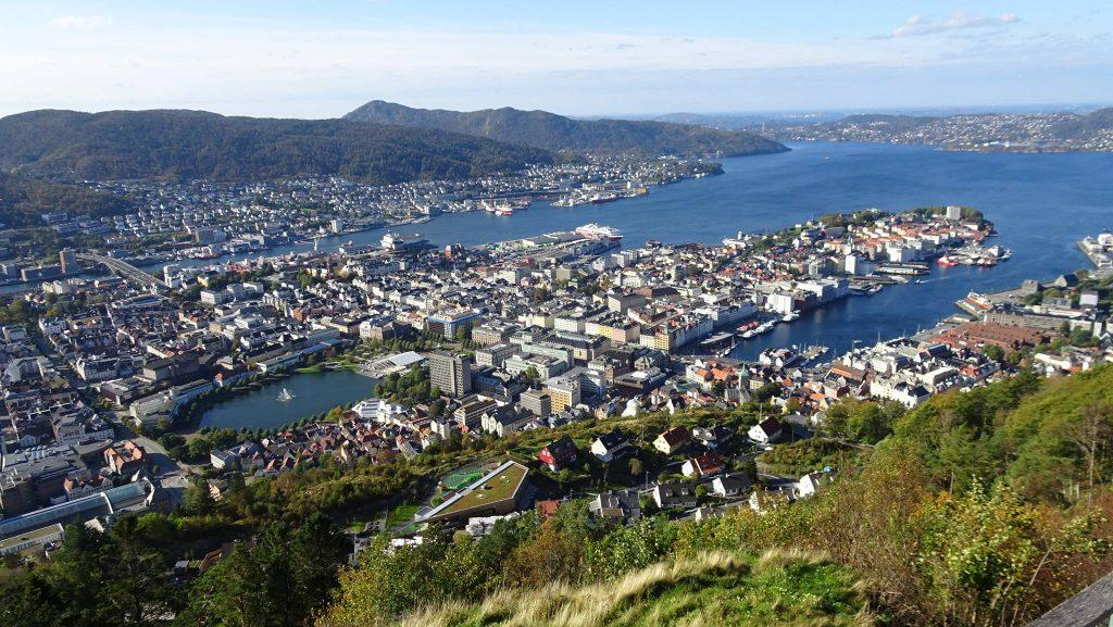 Bergen überblick von oben, meine Lieblingsstadt im Norden