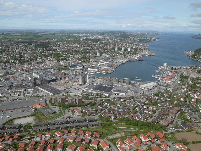 Sandnes Luftaufnahme, Meine Lieblingsstadt im norden