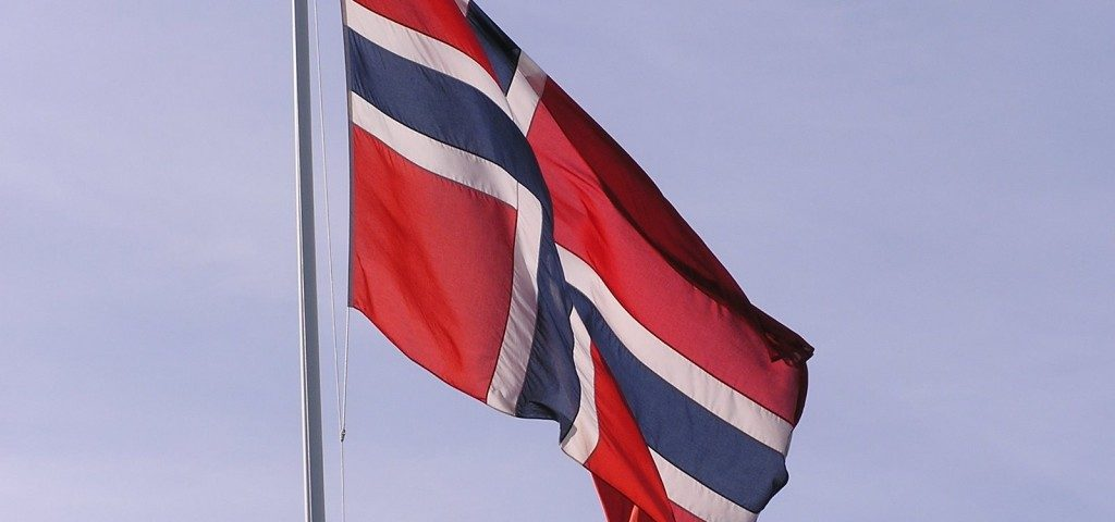 Norwegische Flagge norwegen von a bis z