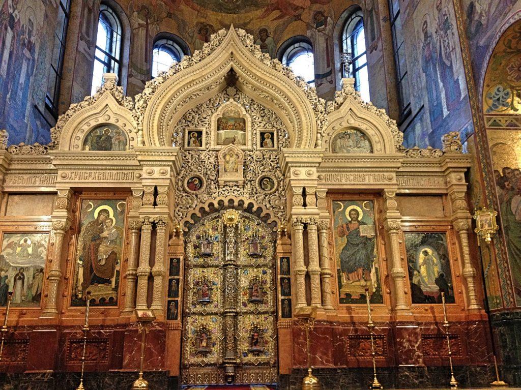 Innenansicht Kathedrale altar Sankt Petersburg
