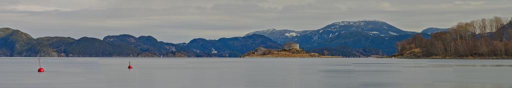 Kleine Festung im Trondheimfjord