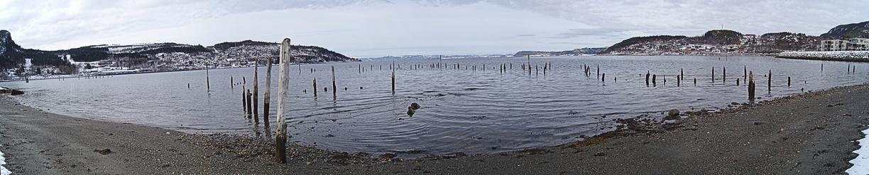 Ein weitwinkliges Bild vom Trondheimfjord