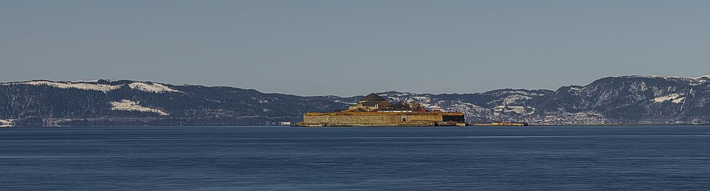 Die Insel Munkholmen im Tronheimfjord
