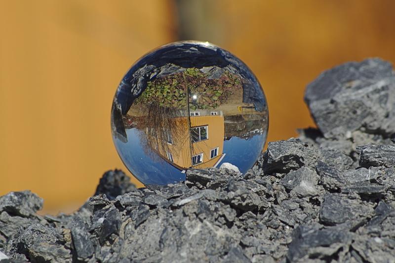 Wohnhaus in der Glaskugel.