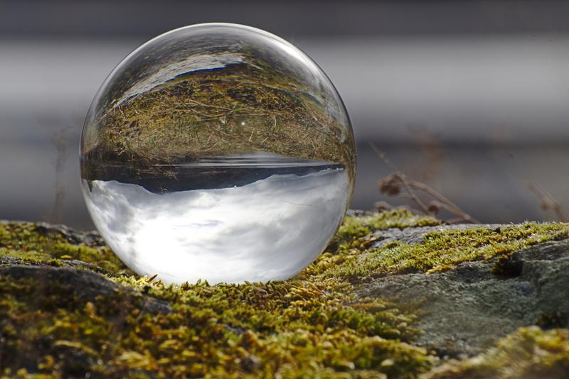 Landschaft in der Glaskugel