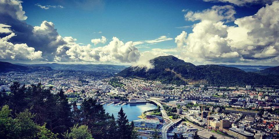 lieblingsstadt Bergen von oben