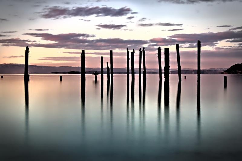 Sonnenuntergang am Strand von Hommelvik