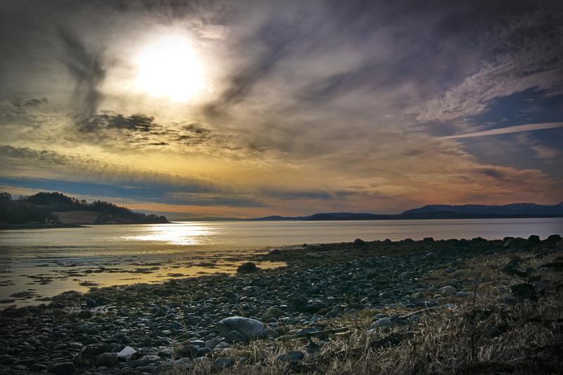 Sonnenuntergang im Norden Norwegens