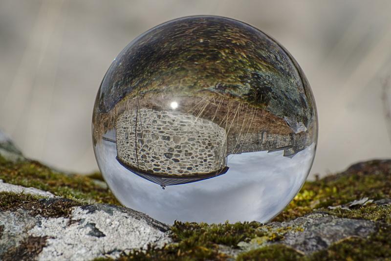 Festung Stenvikholmen ind er Glaskugel