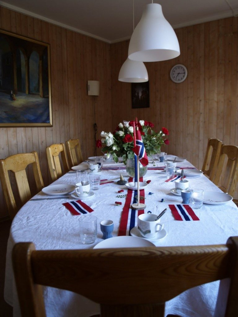 frühstückstisch 17.5 nationalfeiertag norwegen