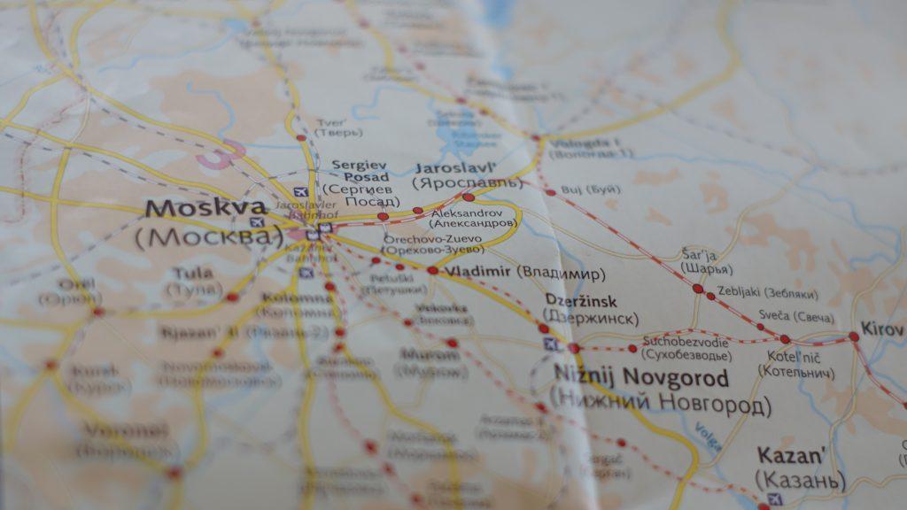 Landkarte Transsibirische eisenbahn