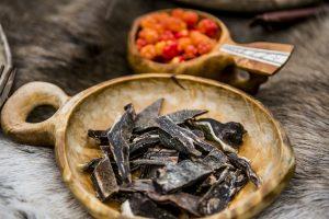 Rentier fleisch getrocknet Multebeere norwegische Küche