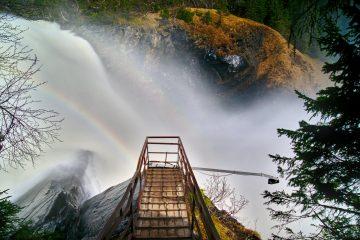 Aussichtspunkt Tännforsen Schweden Wasserfall