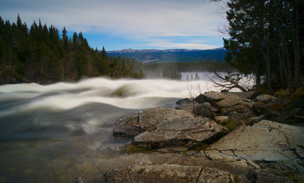 Wasserfall Tännforsen Schweden