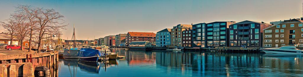 Trondheim Panorama der Stadt