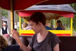 Fahrt in der Bimmelbahn gamla linköping