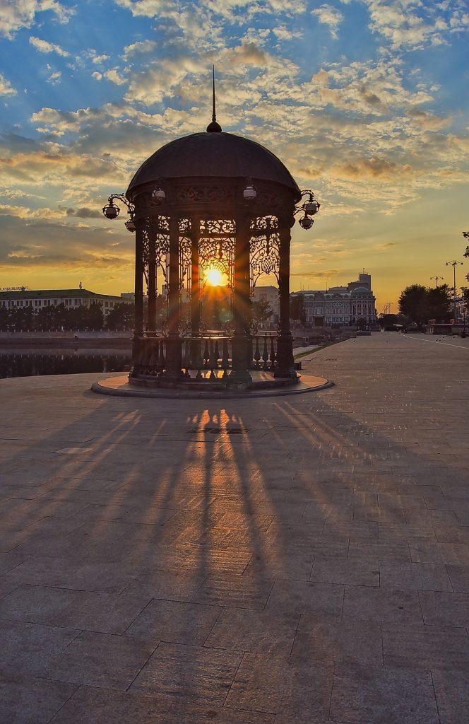 Sonnenuntergang am Isset Jekaterineburg