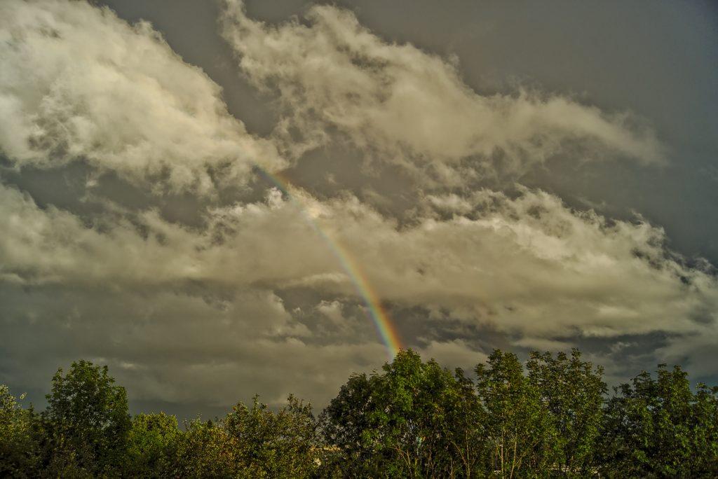 Keine Lust um einen Regenbogen zu knipsen