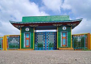 Ethnologisches Museum Ulan-Ude Sibirien eingangstor transsibirische eisenbahn