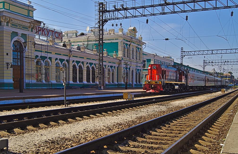 Der Bahnhof von Irkutsk