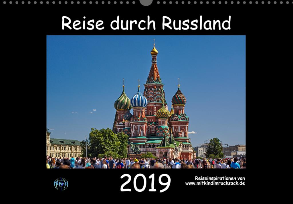 Wandkalender 2019 Russland A3