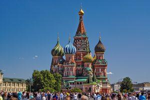 Basilius Kathedrale und ganz schön was los zur Fußball WM auf dem Roten Platz