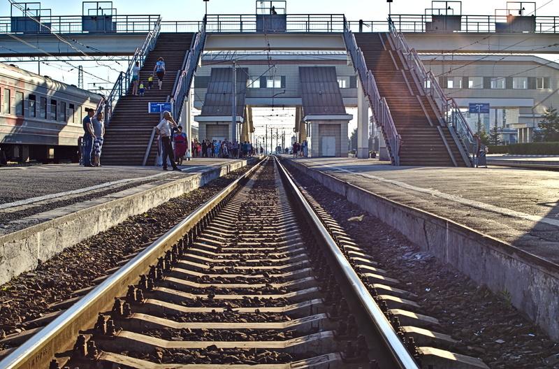 Irgendwo an einem Bahnhof auf der Strecke
