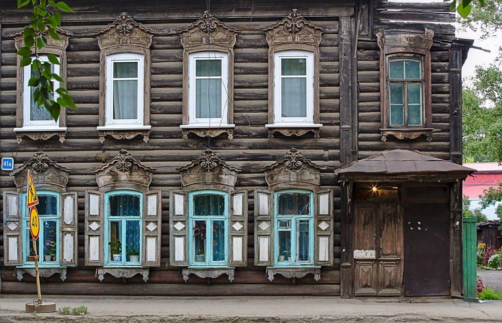 typisches Haus in Irkutsk