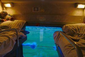 Im Abteil in der Transsibirischen eisenbahn die 2 oberen Betten