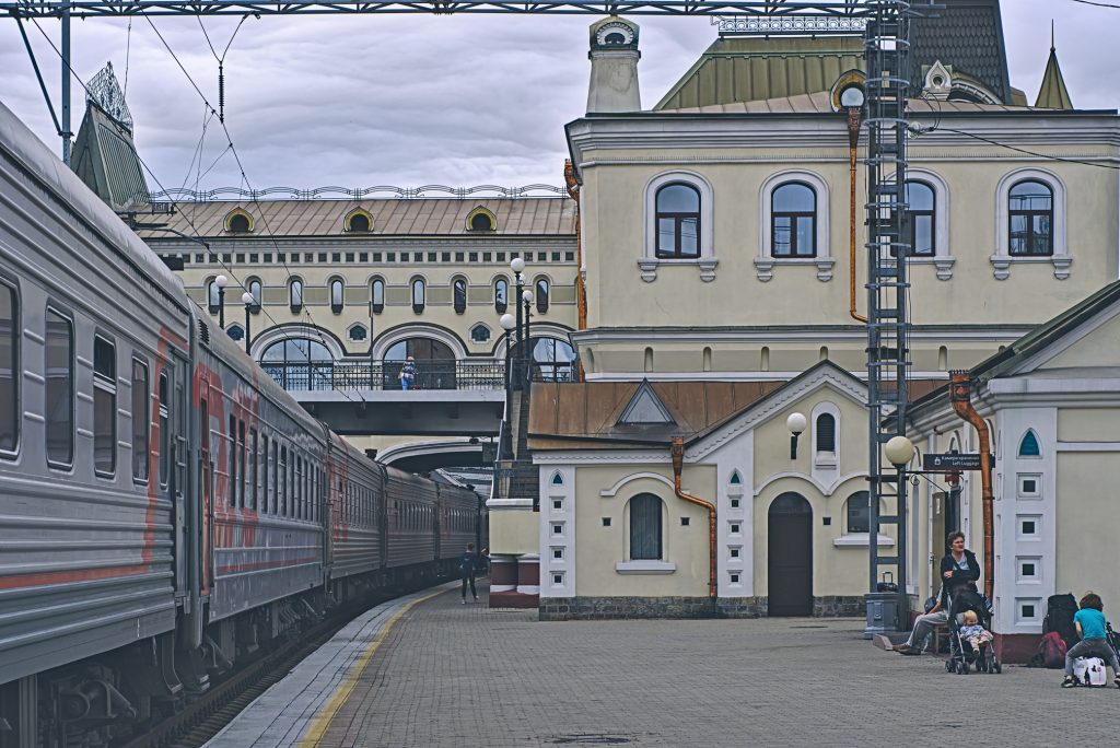 Bahnhof Wladiwostock mit transsibirischern Eisenbahn