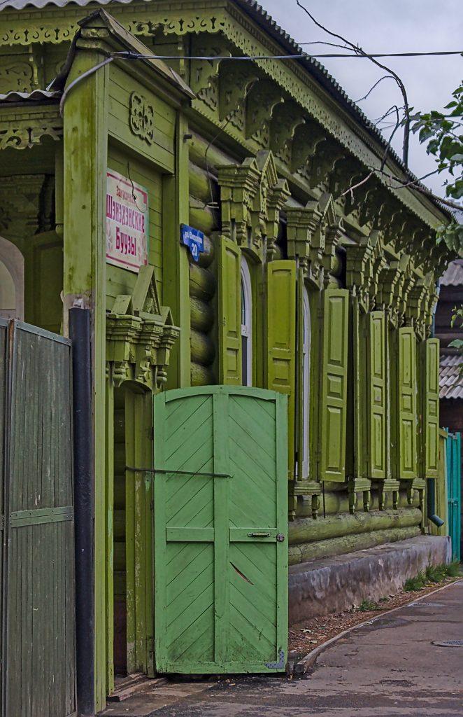 Typisches Holzhaus in Ulan-Ude