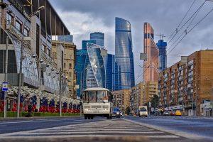 Moskau entdecken alt und neue gebäude