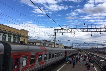 Transsibirische eisenbahn Bahnhof