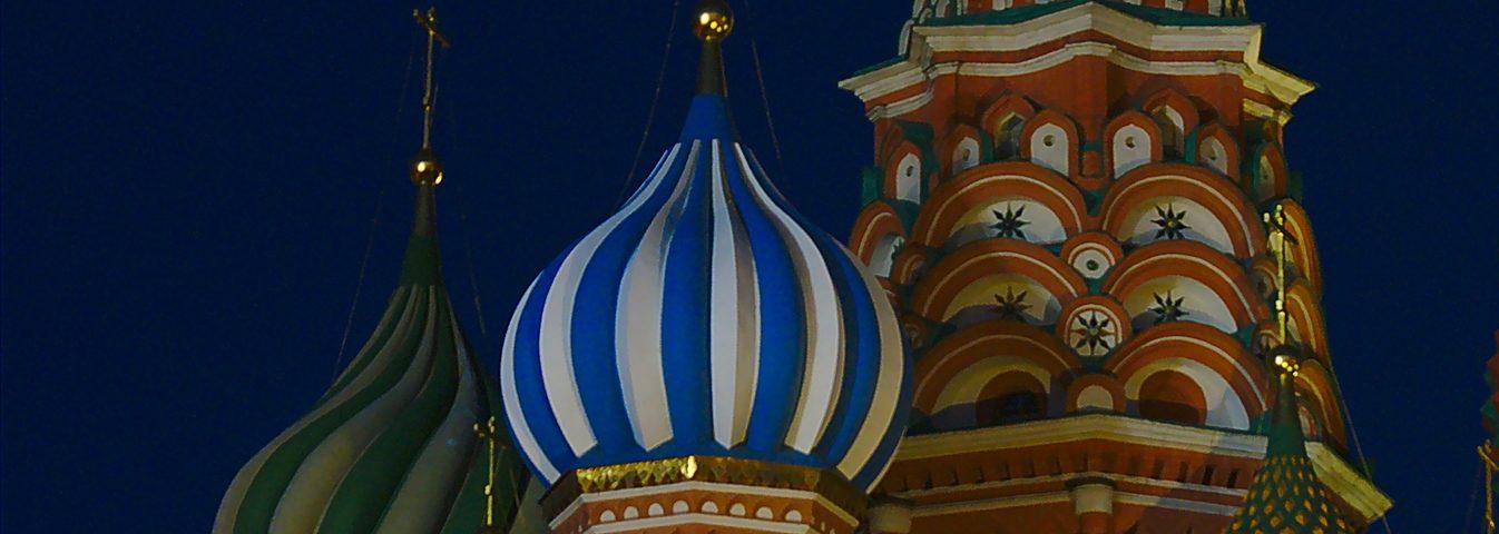 Basiliuskatedrale Moskau Nacht Transsib
